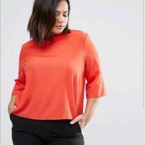 Elvi Orange 3/4 Sleeve Blouse